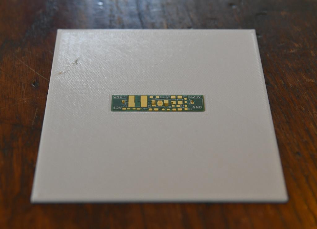PCB in holder